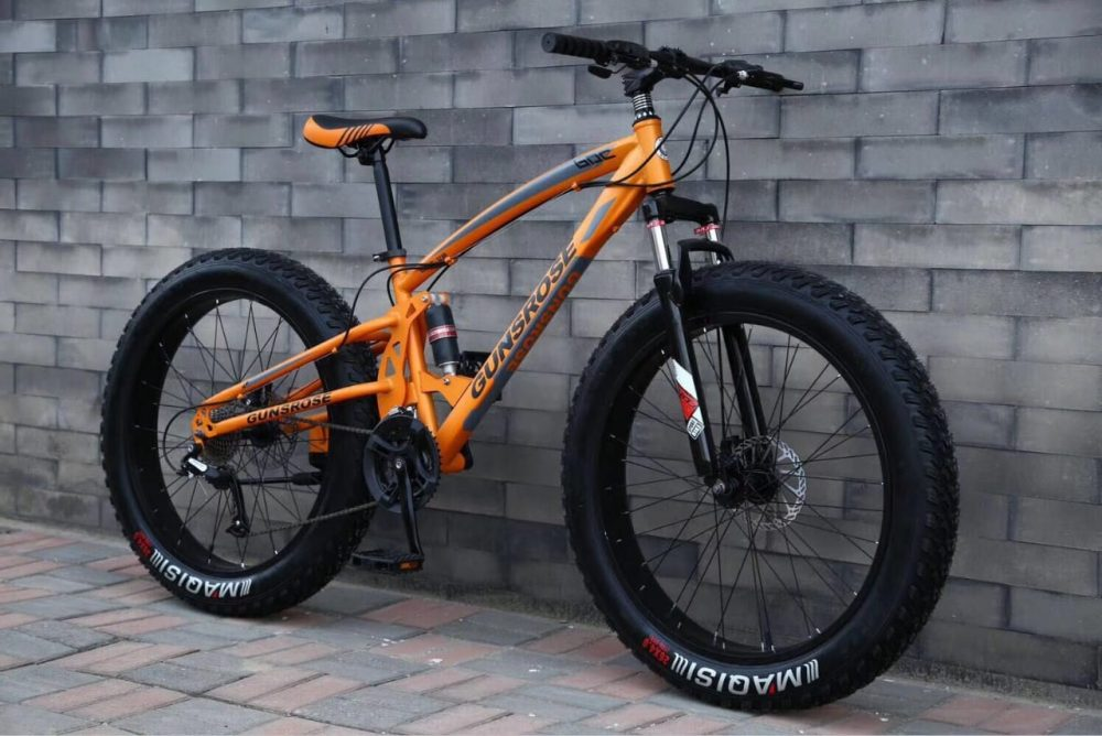 Велосипед Fatbike (фэтбайк) GUNSROSE 26-21 двухподвес